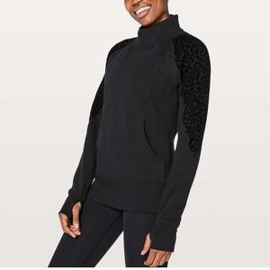 Lululemon back zip crewneck sweatshirt